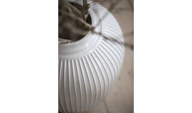 Kähler Design -  Hammershøi Vase - Höhe 12,5 cm - White - 9