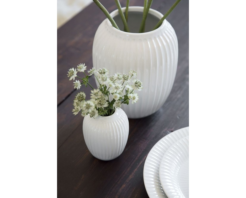 Kähler Design -  Hammershøi Vase - Höhe 12,5 cm - White - 11