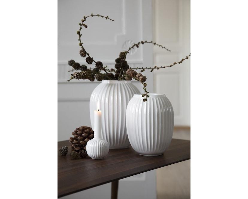 Kähler Design -  Hammershøi Vase - Höhe 10 cm - White - 15