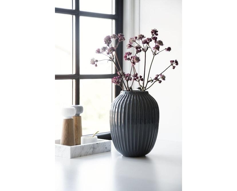 Kähler Design -  Hammershøi Vase - Höhe 10 cm - Anthracite - 13