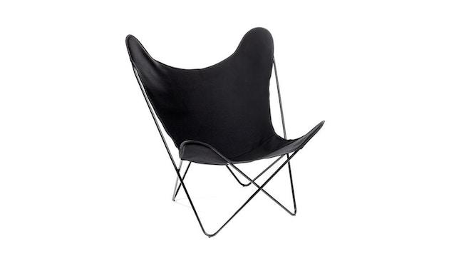 Manufakturplus - Butterfly Chair Hardoy - katoen - Staal zwart - Katoen zwart - 1