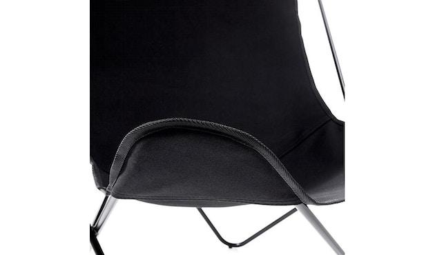 Manufakturplus - Butterfly Chair Hardoy - katoen - Staal zwart - Katoen zwart - 2
