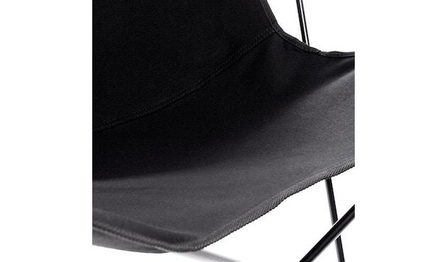 Manufakturplus - Butterfly Chair Hardoy - katoen - Staal zwart - Katoen zwart - 3