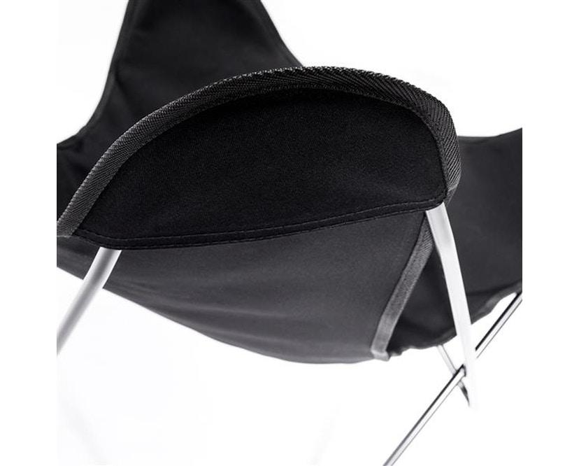 Manufakturplus - Butterfly Chair Hardoy - katoen - Staal zwart - Katoen zwart - 4
