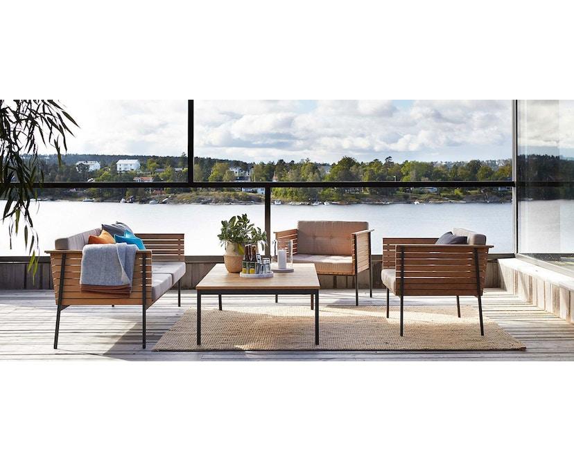 Skargaarden - Häringe Lounge Stuhl - Stahlgestell gebürstet - chine meliert - 2