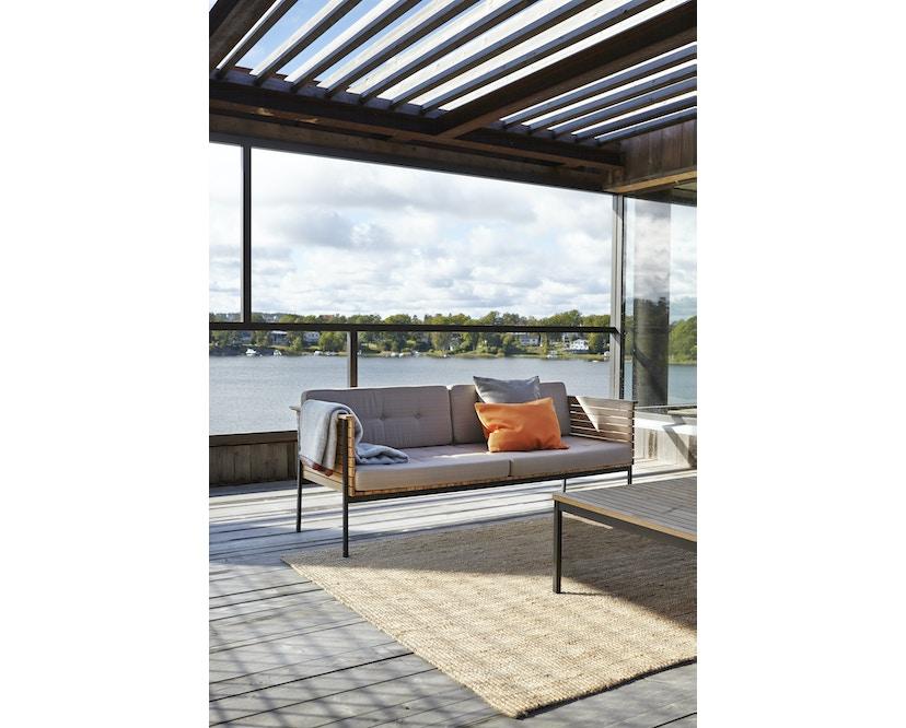 Skargaarden - Häringe Lounge Sofa - Stahlgestell gebürstet - weiss - 2