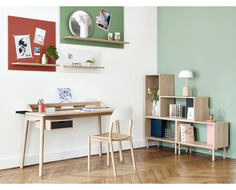 Harto - Honore Büro Schreibtisch - Eiche - weiß - 5