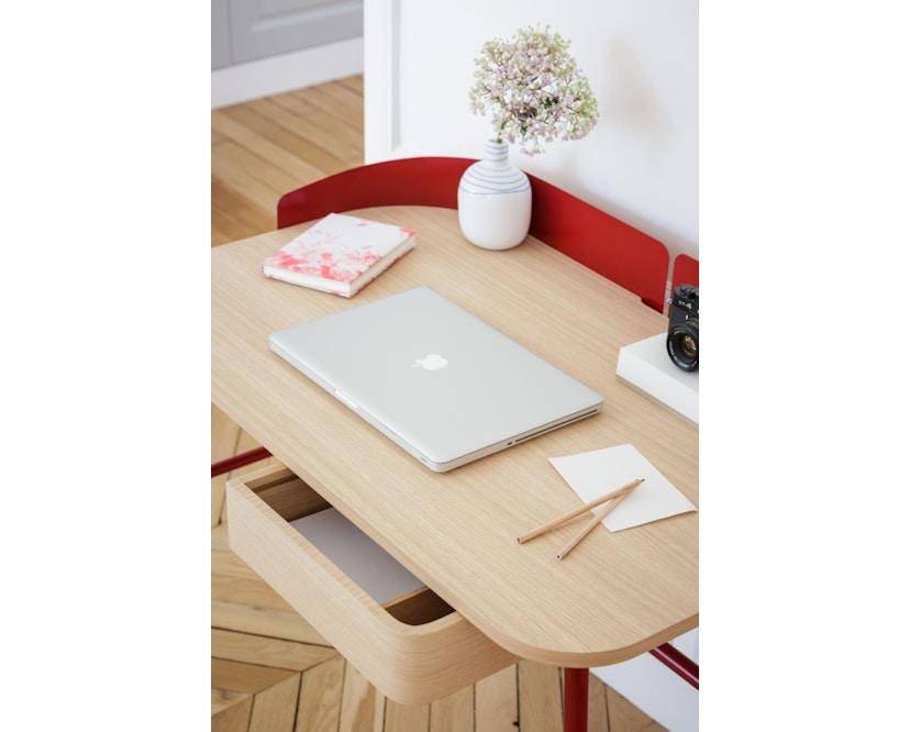 Harto - Victor Büro Schreibtisch - kirschrot - 7