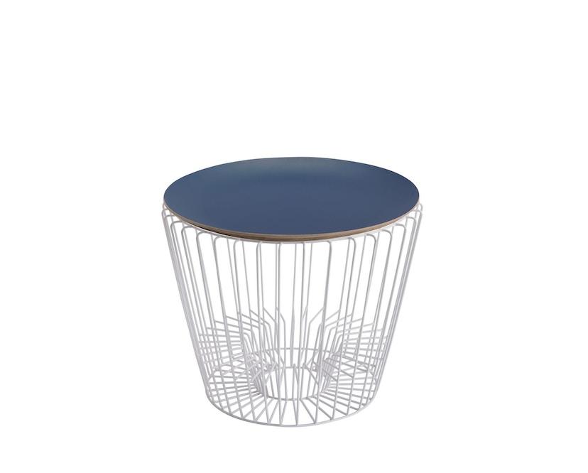 Harto - Ernest Zeitschriftentisch - blau - Gestell weiß - 0