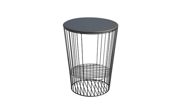 Harto - Ernestin Zeitschriftentisch - rosa/grau - Gestell schwarz - 1