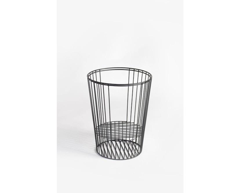 Harto - Ernestin Zeitschriftentisch - rosa/grau - Gestell schwarz - 0