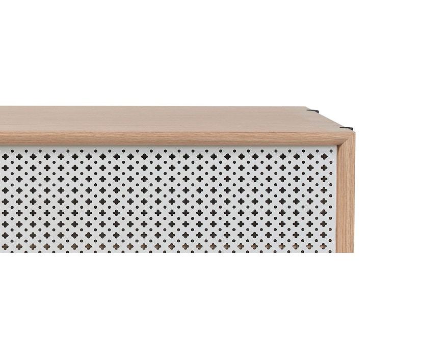 Harto - Gabin Sideboard ohne Schubladen - Eiche - B 122 cm - lichtgrau - 5