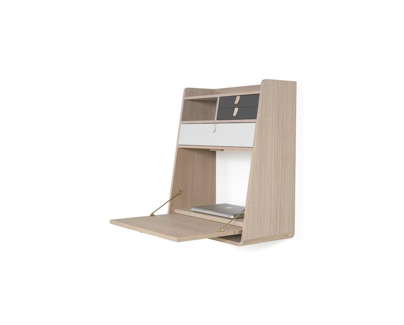 Harto - Gaston Wandsekretär - 60 cm - 1 große Schublade - lichtgrau - 2