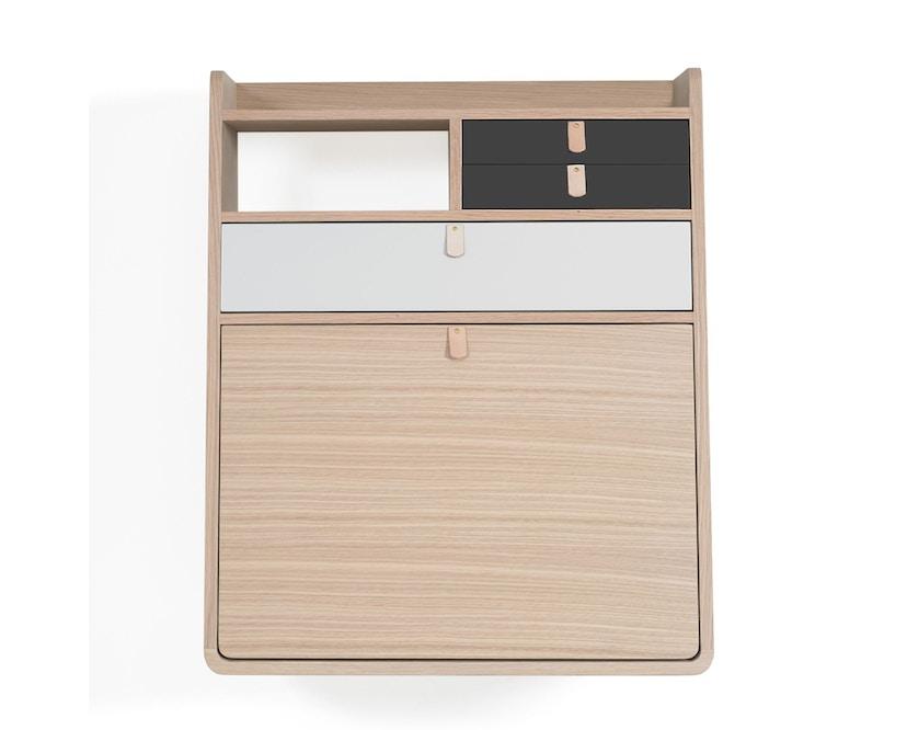 Harto - Gaston Wandsekretär - 60 cm - 1 große Schublade - lichtgrau - 1