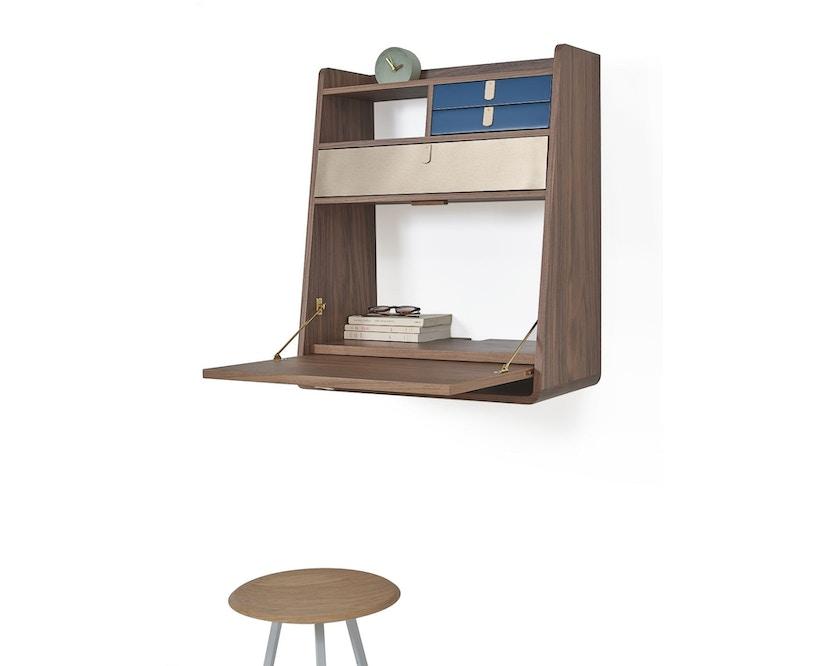 Harto - Gaston Wandsekretär - 60 cm - 1 große Schublade - lichtgrau - 4