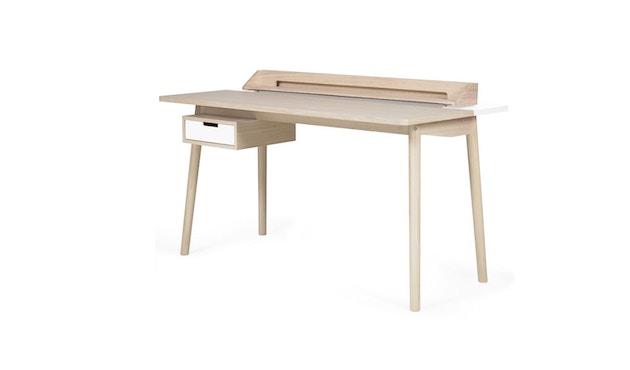 Harto - Honore Büro Schreibtisch - Eiche - weiß - 2