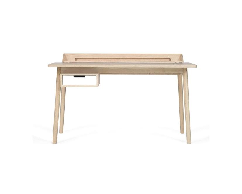 Harto - Honore Büro Schreibtisch - Eiche - weiß - 1