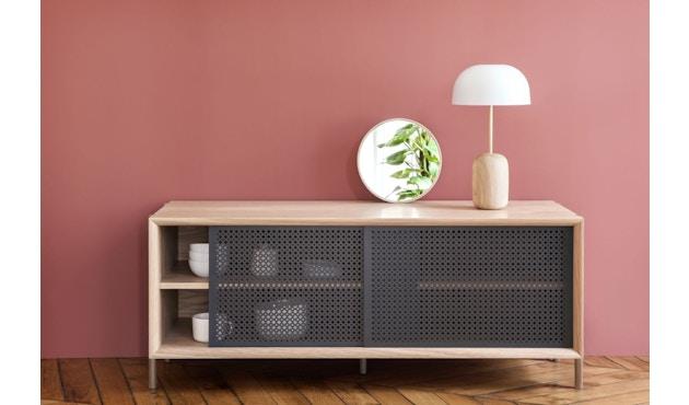 Harto - Gabin Sideboard ohne Schubladen - Eiche - B 122 cm - lichtgrau - 8