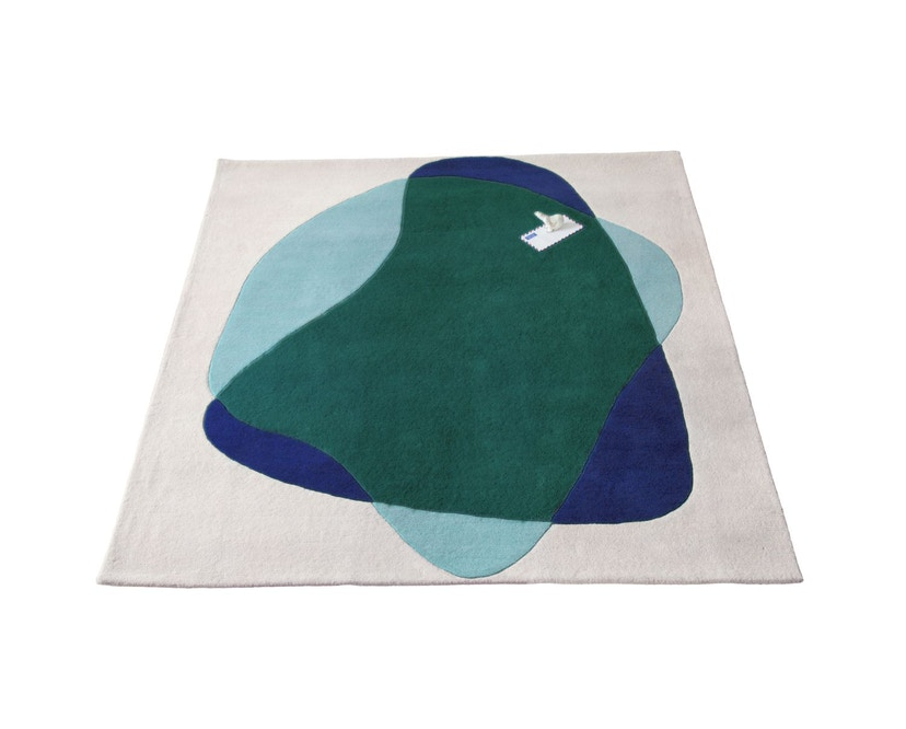 Harto - Serge vloerkleed - groen/blauw - 3