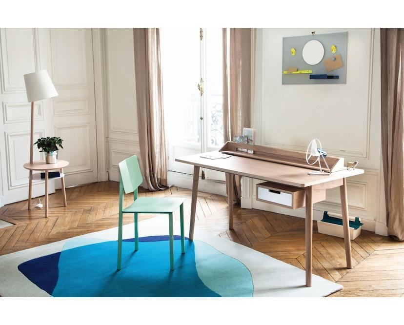 Harto - Honore Büro Schreibtisch - Eiche - weiß - 3