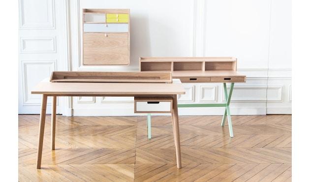 Harto - Honore Büro Schreibtisch - Eiche - weiß - 4