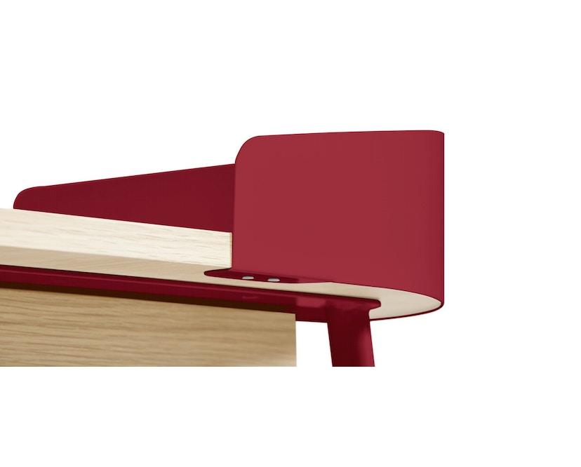 Harto - Victor Büro Schreibtisch - kirschrot - 3