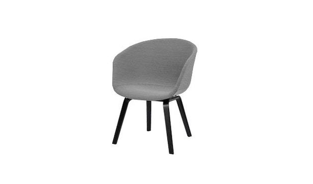 HAY - About A Chair Low AAC 43 - zwart gebeitst - Hallingdal 130 - grijs gevlekt - 12