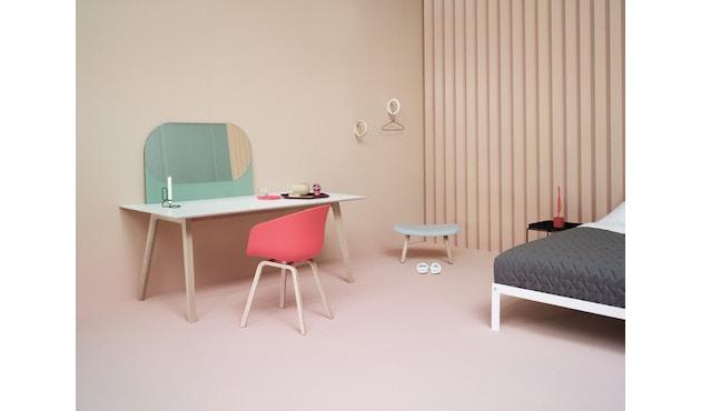HAY - About A Chair Low AAC 43 - zwart gebeitst - Hallingdal 130 - grijs gevlekt - 14