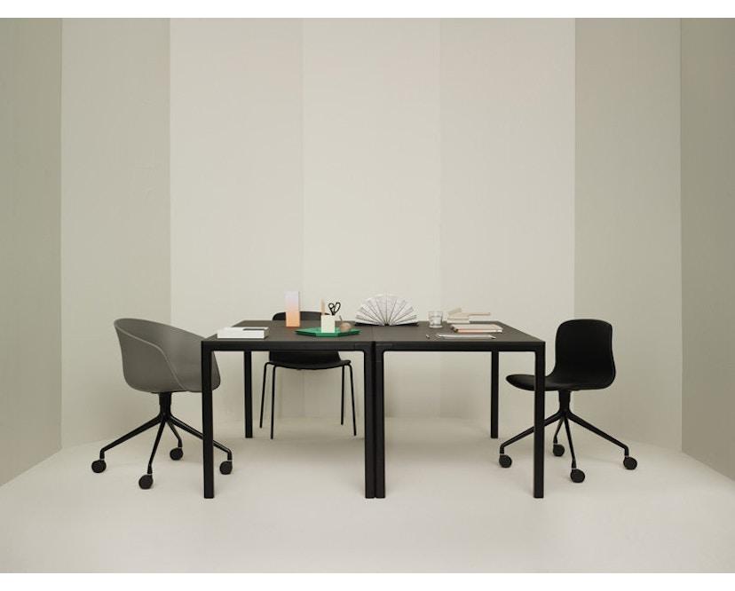 HAY - About A Chair Low AAC 43 - zwart gebeitst - Hallingdal 130 - grijs gevlekt - 15