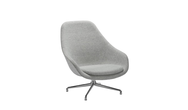 HAY - About A Lounge Chair High AAL 91 - Hallingdal 130 - Gestell Aluminium poliert - 2