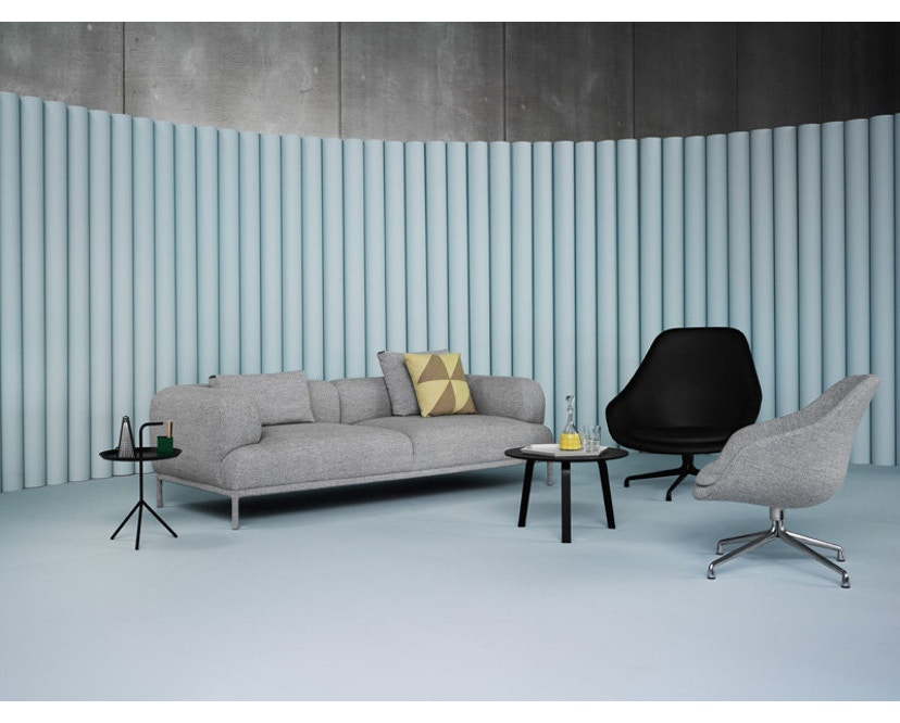 HAY - About A Lounge Chair High AAL 91 - Hallingdal 130 - Gestell Aluminium poliert - 6