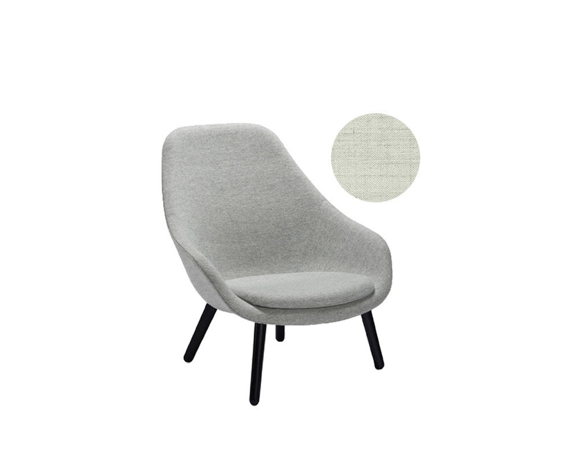 HAY - About A Lounge Chair High AAL 92 - Remix 113 - Gestell schwarz gebeizt - 4