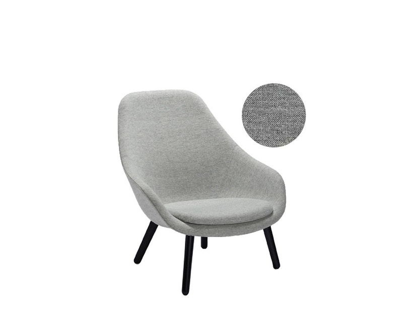 HAY - About A Lounge Chair High AAL 92 - Remix 133 - Gestell schwarz gebeizt - 4