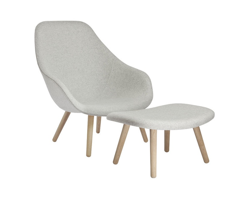 HAY - About A Lounge Chair High AAL 92 - Remix 133 - Gestell schwarz gebeizt - 6