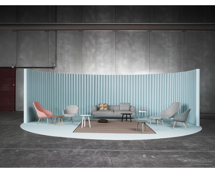 HAY - About A Lounge Chair High AAL 92 - Remix 133 - Gestell schwarz gebeizt - 7