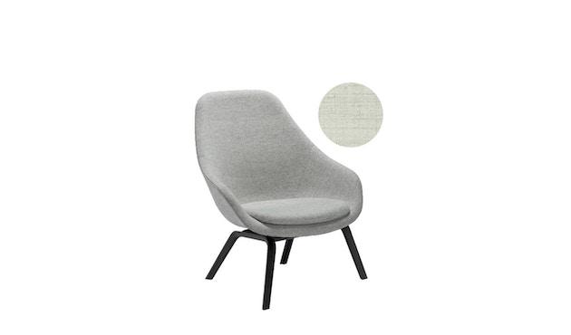 HAY - About A Lounge Chair High AAL 93 - Remix 113 - beige - zwart gebeitst - 5