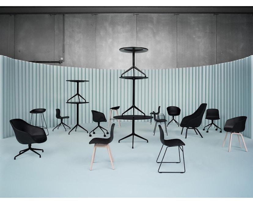 HAY - About A Lounge Chair High AAL 93 - Remix 113 - beige - zwart gebeitst - 7