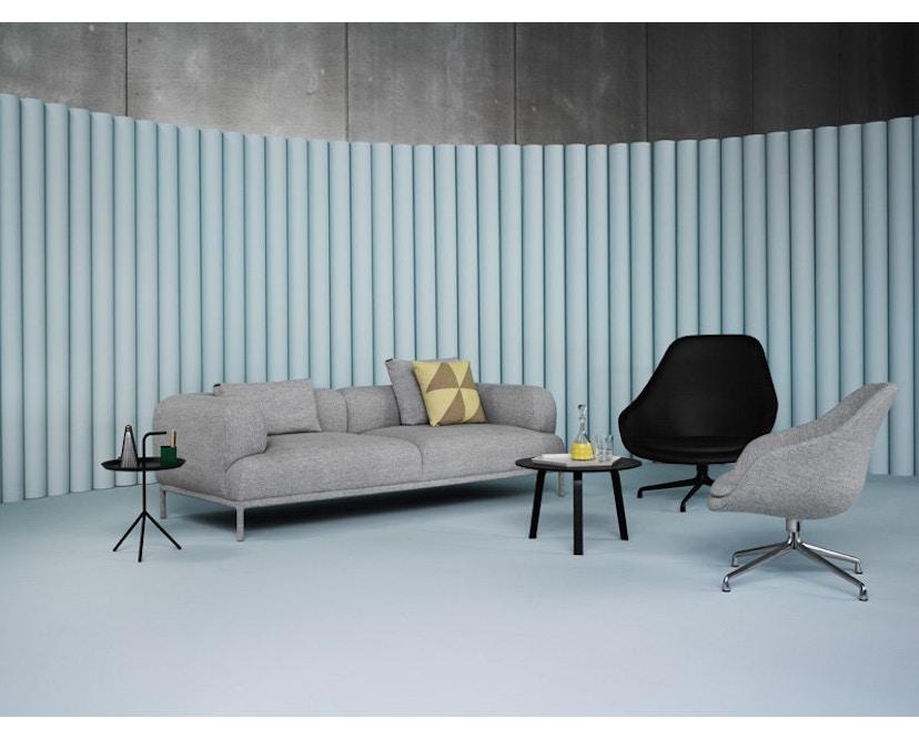 HAY - About A Lounge Chair Low AAL 81 - Remix 113 - Aluminium pulverbeschichtet schwarz - 6