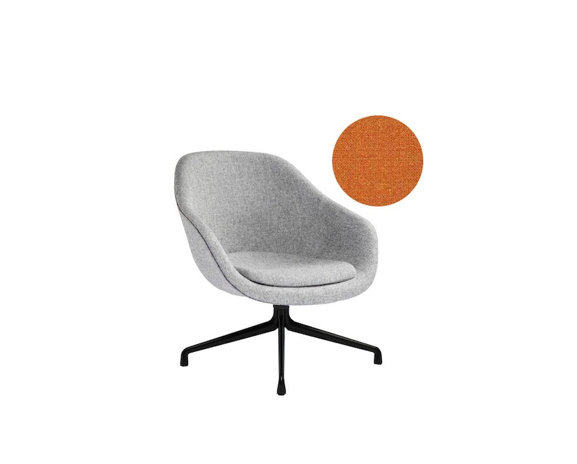 HAY - About A Lounge Chair Low AAL 81 - zwart - Remix 543 - oranje - 3