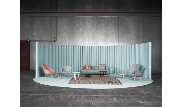 HAY - About A Lounge Chair Low AAL 81 - zwart - Remix 543 - oranje - 5