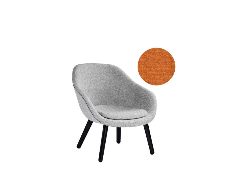 HAY - About A Lounge Chair Low  AAL 82 - Remix 543 - oranje - zwart gebeitst - 4