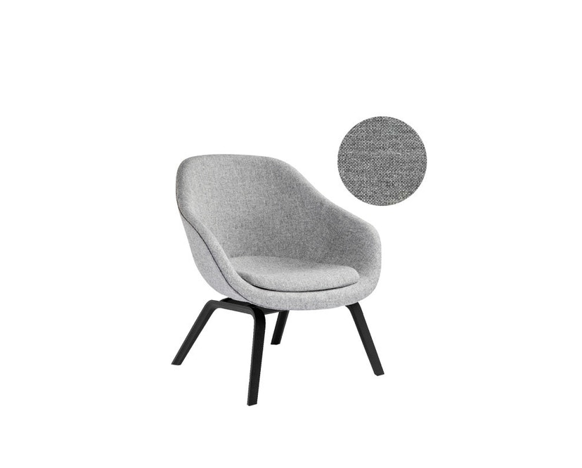 HAY - About A Lounge Chair Low AAL 83 - Remix 133 - Esche schwarz gebeizt - 6