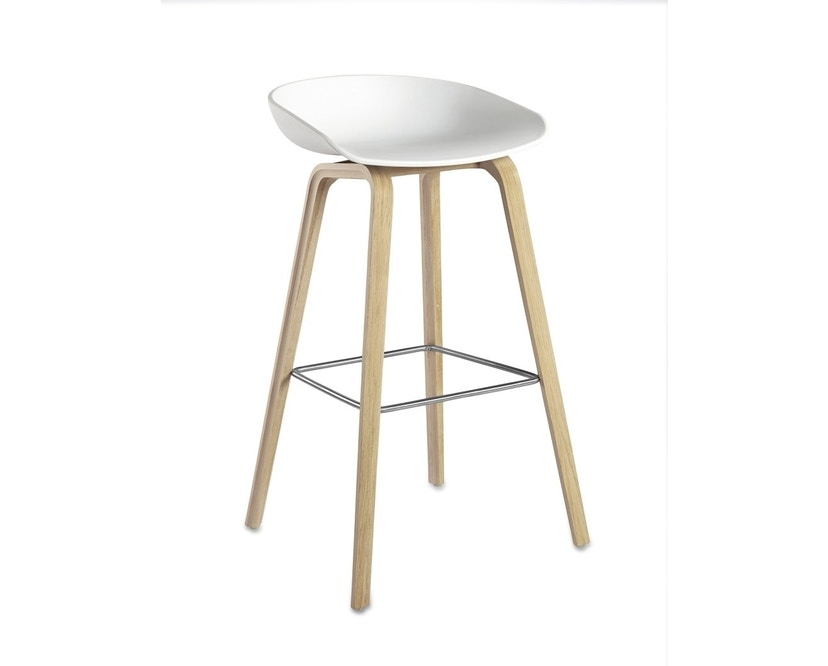 HAY - About A Stool AAS 32 - groß 85 cm - weiß - Eiche geseift - 0