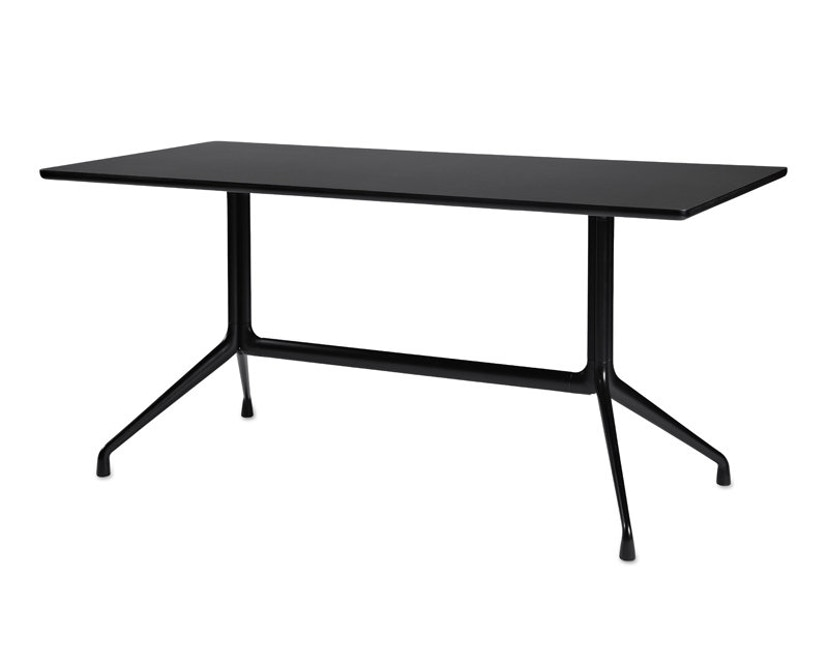 HAY - About A Table AAT 10 - Linoleum zwart, rand zwart - 160 x 80 cm - 3