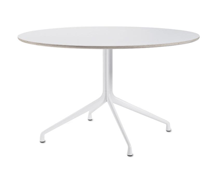 HAY - About A Table AAT20 - Ø128 x 73 cm - Gestell weiß/Tischplatte weiß - 1