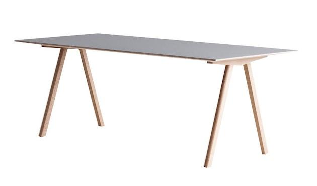 HAY - Copenhague CPH10 - 160 x 80 cm - Gestell Eiche geseift - Tischplatte Linoleum grau - 3