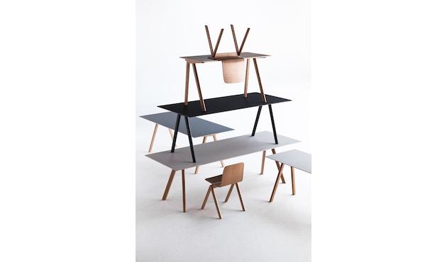 HAY - Copenhague CPH10 - 160 x 80 cm - Gestell Eiche geseift - Tischplatte Linoleum grau - 5