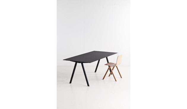 HAY - Copenhague CPH10 - 160 x 80 cm - Gestell Eiche geseift - Tischplatte Linoleum grau - 6