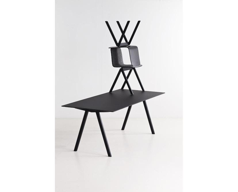 HAY - Copenhague CPH10 - 160 x 80 cm - Gestell Eiche geseift - Tischplatte Linoleum grau - 7
