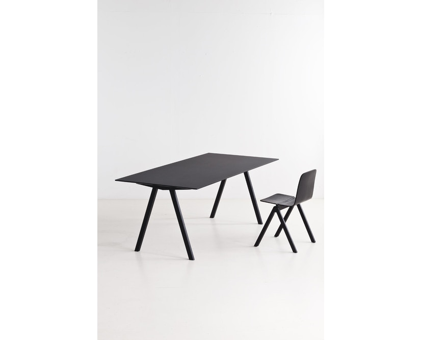HAY - Copenhague CPH10 - 160 x 80 cm - Gestell Eiche geseift - Tischplatte Linoleum grau - 8